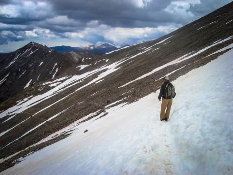 Hike arcross Snowfield
