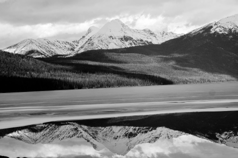 Kintla Lake (black and white)