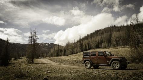 jeep near adams crossing