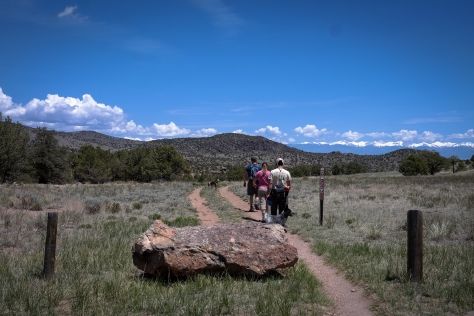 Hiking out Wagon Tracks