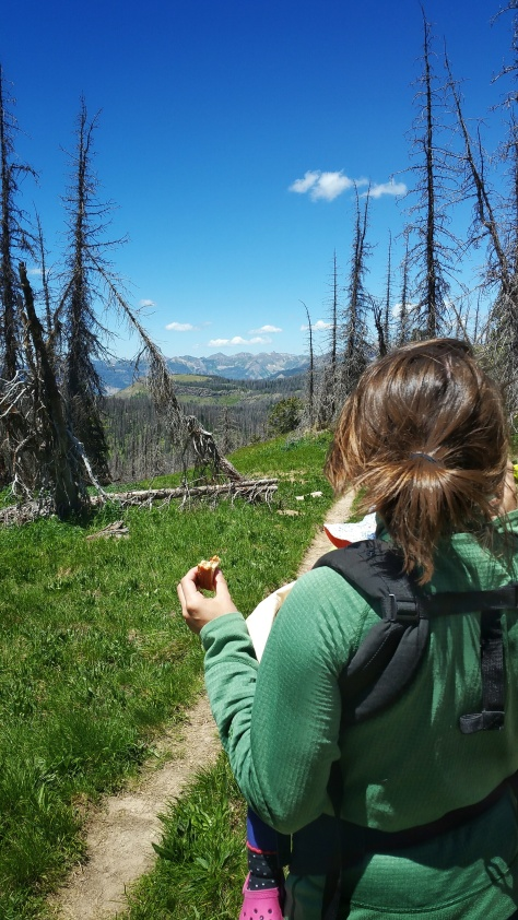 becky looking across san juans