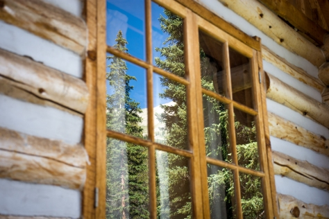 cabin window view